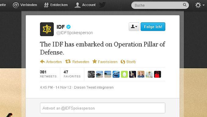 Die Militärschläge bekommen einen Namen. Auch eine Bodenoffensive ist möglich, twittert die Armee kurz danach.