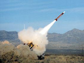"""Eine Luftabwehrrakete vom Typ """"Patriot"""": In der Nato sind Deutschland, die Niederlande und die USA die einzigen Länder, die über """"Patriot""""-Raketensysteme verfügen."""