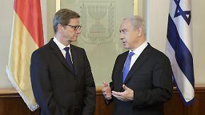 Verhandlungen im Gazakonflikt: Westerwelle gibt Israel Rückendeckung