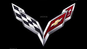 So wird das neue Logo auf der Corvette aussehen.