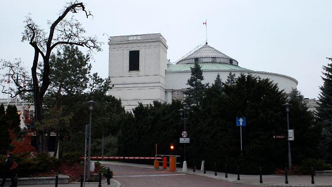 Im Fadenkreuz des geplanten Anschlags: das polnische Parlament in Warschau.
