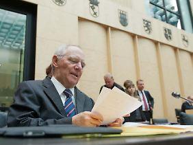 Wolfgang Schäuble gibt sich kämpferisch. Der Finanzminister setzt auf den Vermittlungsausschuss.