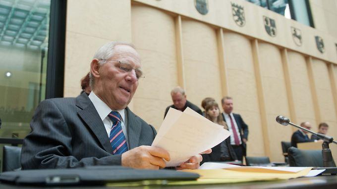 Wolfgang Schäuble gibt sich kämpferisch.