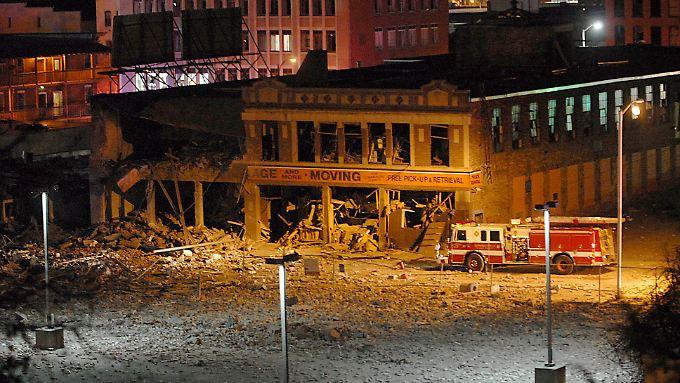 Nur Schutt ist von dem Gebäude übrig geblieben.