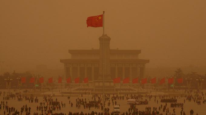 Der Tiananmen-Platz in Peking.