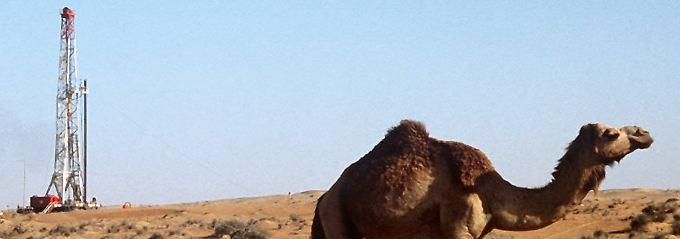 Eine einfache Bohrung reicht oft aus, um dem Öl einen Weg nach oben zu bahnen. Hier ein Bohrturm in den Vereinigten Arabischen Emiraten.