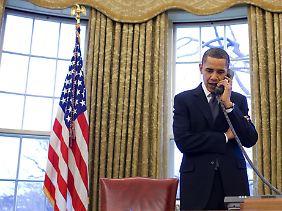 Obama und Medwedew beseitigen die letzten Hindernisse für ein neues START-Abkommen in einem Telefonat.