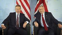 Blair und Bush beim G8-Gipfel 2007 in Heiligendamm.