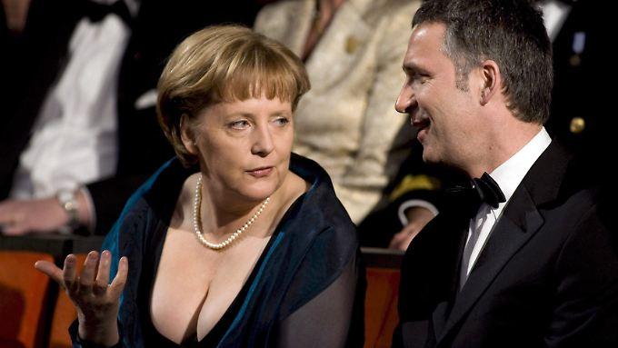 Der Moment der Überraschung: Merkel in Oslo.