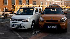 Nissan Cube vs. Kia Soul: Die Stadt wird bunt