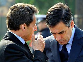 Francois Fillon (rechts) mit Nicolas Sarkozy.