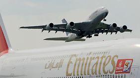 Sorglose Zeiten für Airbus: Emirates bestellt 32 A380