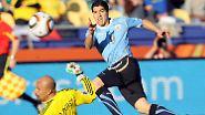 Mexiko und Uruguay weiter: Suarez bringt Urus den Sieg