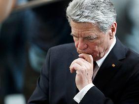 Gauck konnte mit seiner Nachdenklichkeit über die Parteigrenzen hinweg überzeugen.
