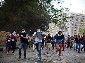 Straßenschlachten in Kairo.