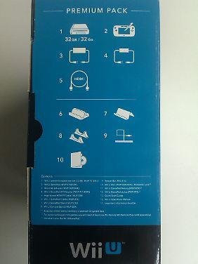 Der Inhalt der Wii U Premium.