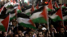Jubel in Ramallah.