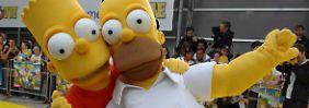 """Bart und Homer können """"Family Guy"""" eigentlich nicht leiden."""