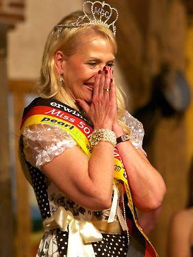 Christine Wache freut sich über ihren Sieg.