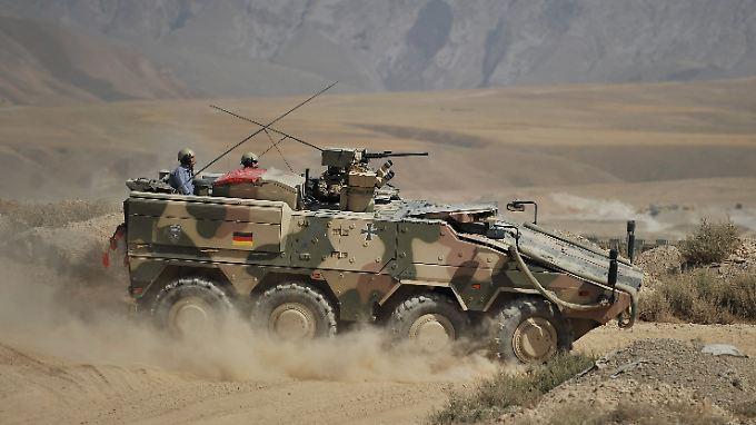 """""""Boxer""""-Radpanzer im Einsatz in Afghanistan: Auch die Saudis wollen das Gefährt haben."""