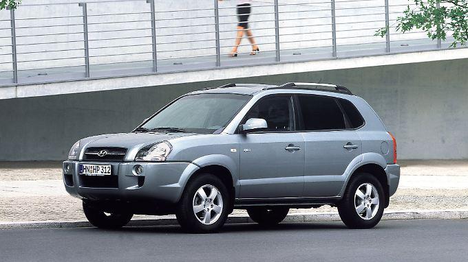 Besonders bei Frauen erfreuten sich die runden Formen des Hyundai Tucs