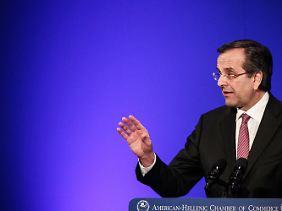 """""""Wir werden im Euro bleiben"""": Antonis Samaras."""