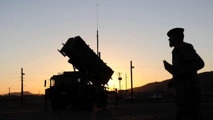 Ein Patriot-Luftabwehrsystem.