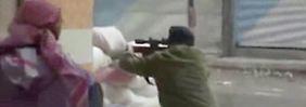 Dieses Foto soll bei Straßenkämpfen in Damaskus entstanden sein.
