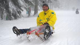 Spaß haben Wintersportler wie hier in Oberhof.