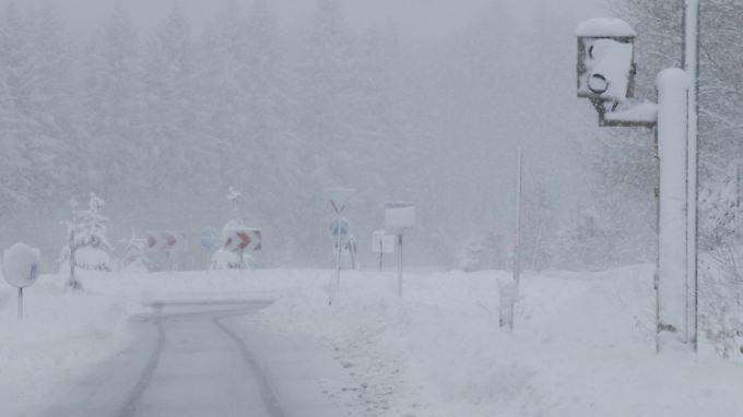 Vor allem in den Mittelgebirgen, wie hier im Harz, wird es noch einmal stark schneien.