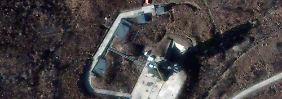 Satellitenbild von der Abschussrampe in Sohae