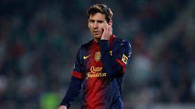 Auch aus Brasilien werden dem argentinischen Torjäger Lionel Messi jetzt Glückwünsche zuteil.