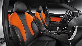 """Die Audi """"design selection capriorange"""" schlägt mit 1798 Euro zu Buche und soll vor allem junge Käufer ansprechen."""