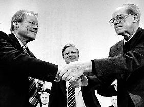 Die erfolgreichste Troika der deutschen Sozialdemokratie bestand aus Willy Brandt, Helmut Schmidt und Herbert Wehner.