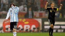 Auf dem Platz konnte Lionel Messi die Tränen noch zurückhalten. In der Kabine wollte er es nicht mehr.