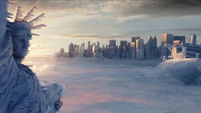 """""""The Day After Tomorrow"""": Der deutsche Regisseur Roland Emmerich schickt die nördliche Erdhalbkugel in die Eiszeit."""