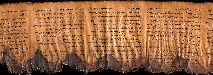Die Aufnahme zeigt Psalm 133 aus dem Alten Testament