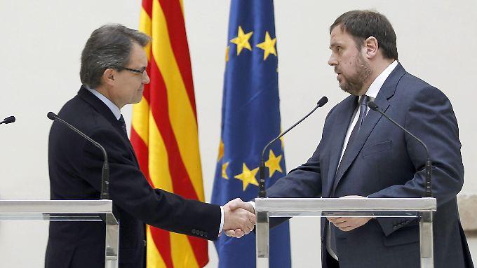 Artur Mas und Oriol Junqueras