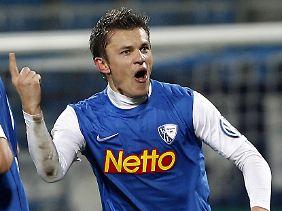 Dedic feiert sein 1:0: Am Ende gewinnt Bochum gegen 1860 noch deutlicher.