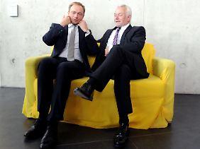Die beiden einzigen, die 2012 bei der FDP was gerissen haben: Christian Lindner und Wolfgang Kubicki.