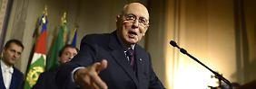 Giorgio Napolitano muss sich nun um Neuwahlen kümmern.