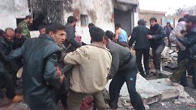 Beim Beschuss einer Bäckerei starben etwa 90 Menschen.