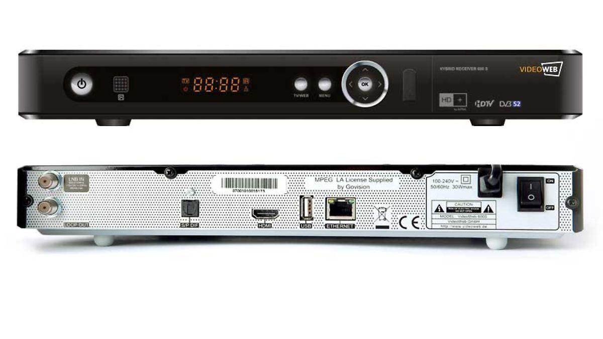 videoweb 600s einfach sch ner fernsehen n. Black Bedroom Furniture Sets. Home Design Ideas