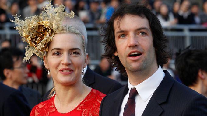 Frisch vermählt: Kate Winslet und Ned RocknRoll.