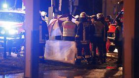 Blick auf die Unfallstelle nahe Günzburg. Die beiden Mädchen waren sofort tot.