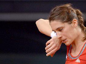 Tränen prägten das Jahr von Andrea Petkovic, nicht nur in Stuttgart (im Bild).