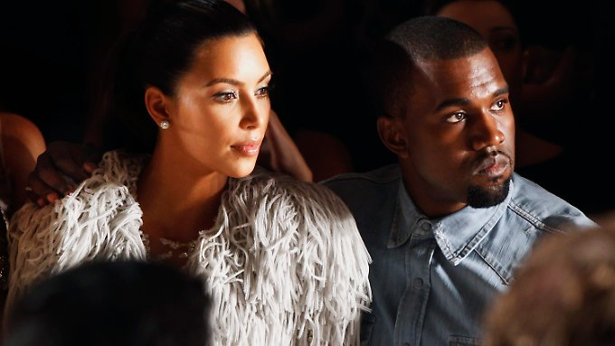 Kim Kardashian und Kanye West im September 2012 bei der New York Fashion Week.