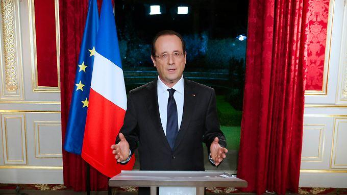 Es war Hollandes erste Neujahrsansprache als Staatspräsident.