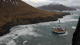 Nach Angaben von Shell soll noch kein Öl aus der Bohrinsel ausgetreten sein.