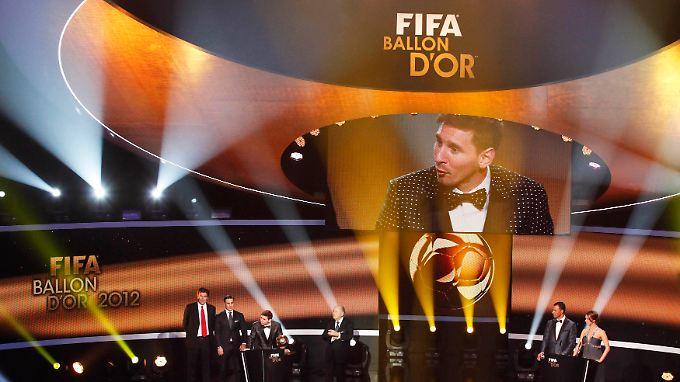 Und jährlich gewinnt ... Lionel Messi.